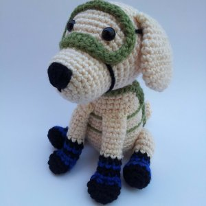 FRIDA The Rescue Dog Amigurumi