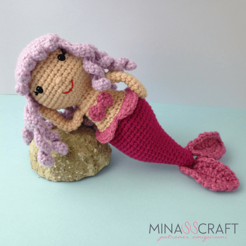 free crochet amigurumi mermaid pattern Archives ⋆ Crochet Kingdom ... | 800x800