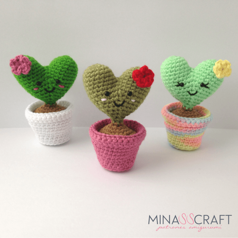 cactus in the facepot amigurumi pattern - Amigurumipatterns.net | 800x800